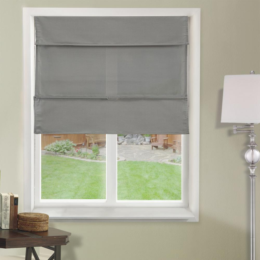 fabric shades l daily grey light filtering horizontal fabric roman shade WLUVPCD