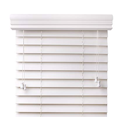 faux blinds arlo blinds snow white 2-inches faux wood horizontal blinds - size: 34 FJSJOFM