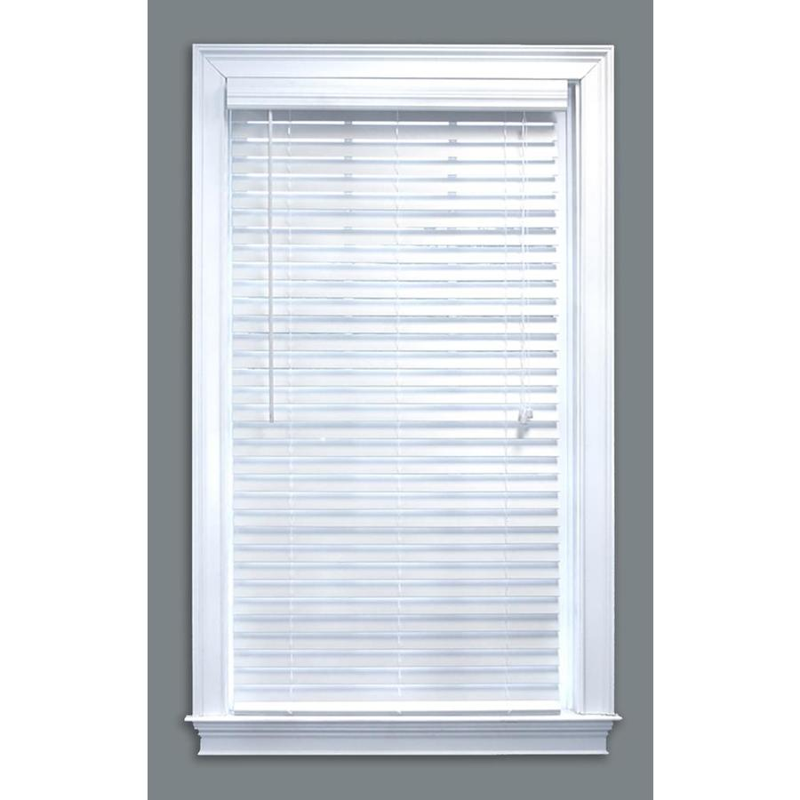 faux blinds display product reviews for 2-in white faux wood blinds (common: 59- QGKCVBV