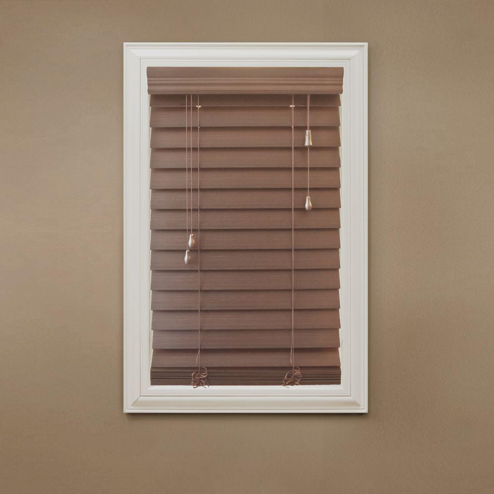 faux wood blinds premium faux wood blind - 56 in. w x 64 in. l HABGQMI
