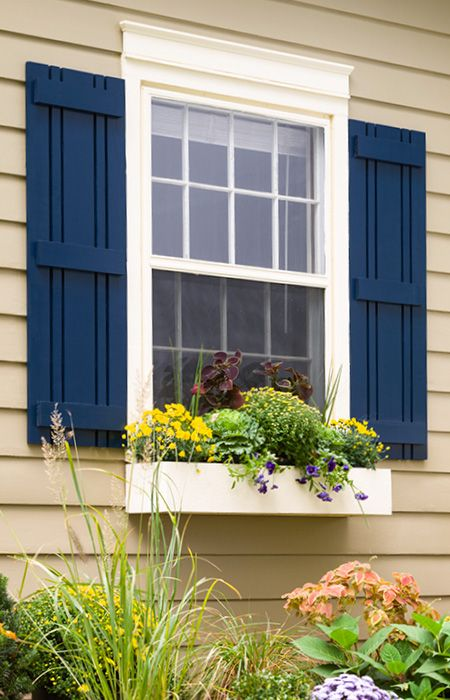 flank a window with decorative outdoor shutters you can make yourself and HLRUYHV