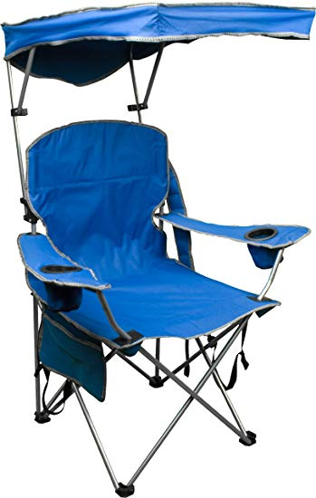 folding chair with canopy amazon.com : quik shade adjustable canopy folding camp chair - royal blue BQUQBNW