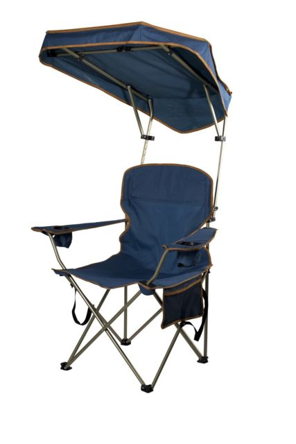 folding chair with canopy folding portable chair with sun shade canopy for patio outdoor beach ZXXGEJO