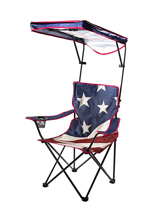 folding chair with canopy quik shade adjustable canopy folding camp chair - american flag pattern RWNLJQQ