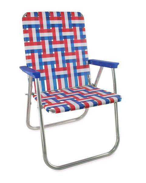 folding lawn chairs lawn chair usa - old glory folding aluminum webbing classic chair with HKQMPYN