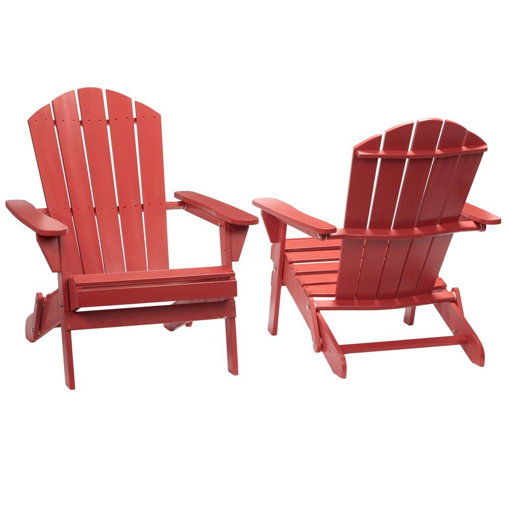 folding outdoor chairs hampton bay nectar folding outdoor adirondack chair (2-pack)-2.1.1088nectar  - the home JEDZERO