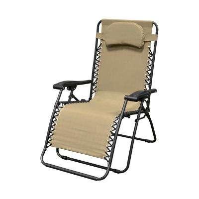 folding outdoor chairs infinity oversized beige metal zero gravity patio chair SIXNMXQ