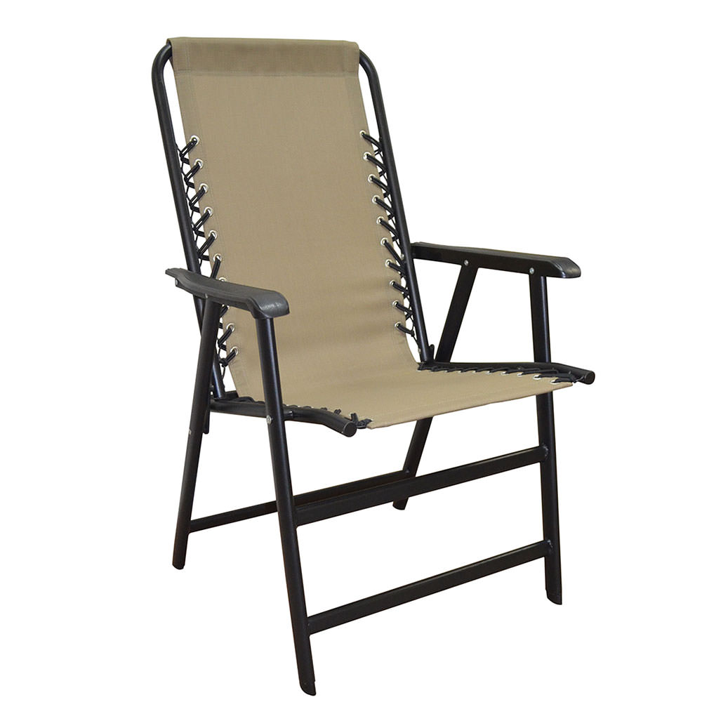 folding outdoor chairs suspension folding chair, beige - caravan canopy 80012000150 - folding  chairs YSOQSIY