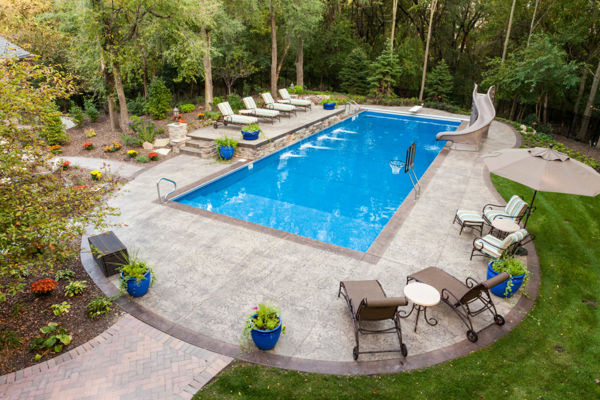 four options to create a one-of-a-kind decorative concrete pool deck KGSHZPD