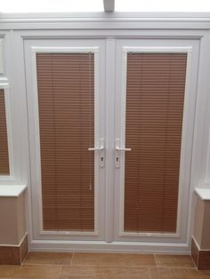 french door blinds could look messy on the little windows onto french doors. ZQWUXMM