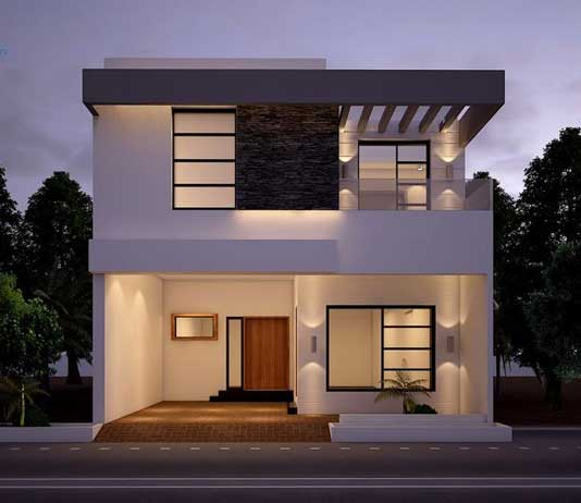 front elevation designs in india - decorchamp NTCRJTQ