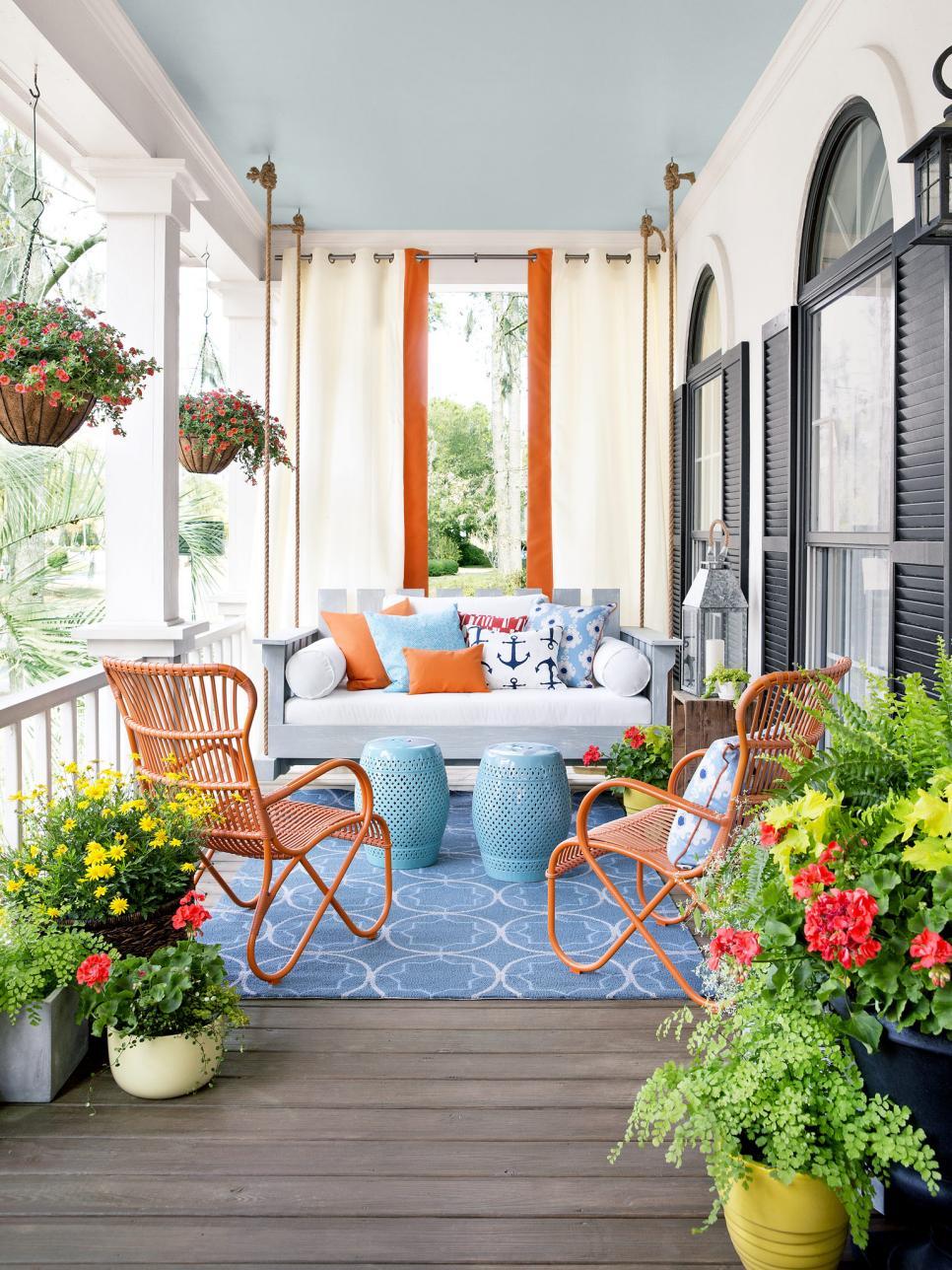 front porch decor ideas QRMNKZD