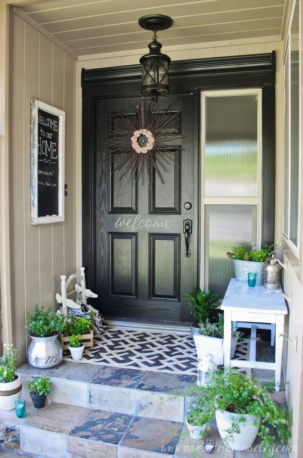 front porch decor lots of charm on a