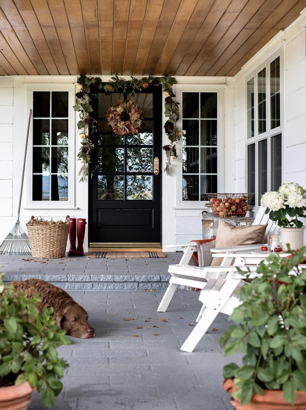 front porch decor simple fall decorating ideas for your farmhouse front porch |  boxwoodavenue.com WTFADKC
