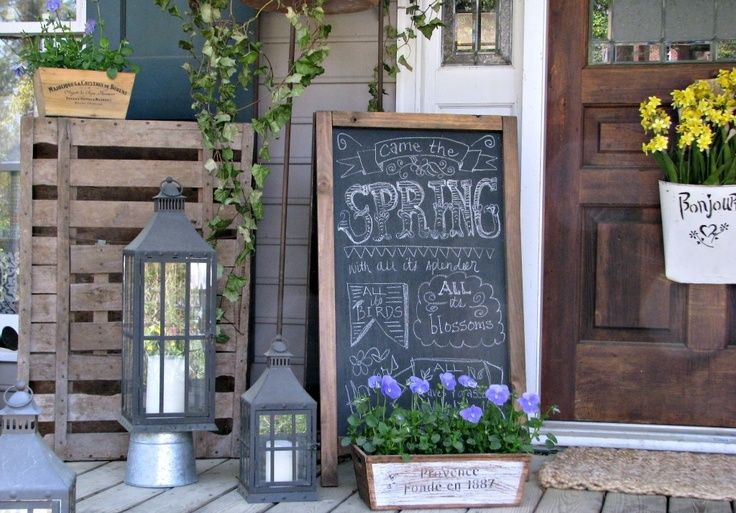 front porch decor spring quote chalkboard YKXTTBO
