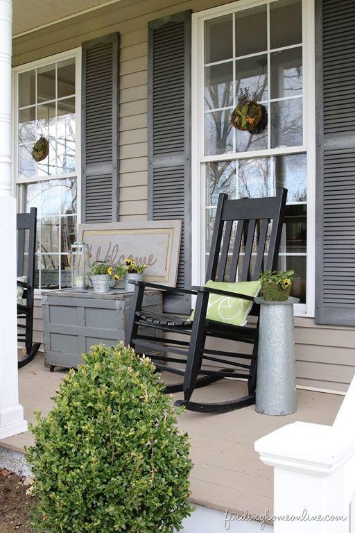 front porch decor summer front porch decorating and two summer wreath tutorials.  #damagefreediy #ad EFVCQJN