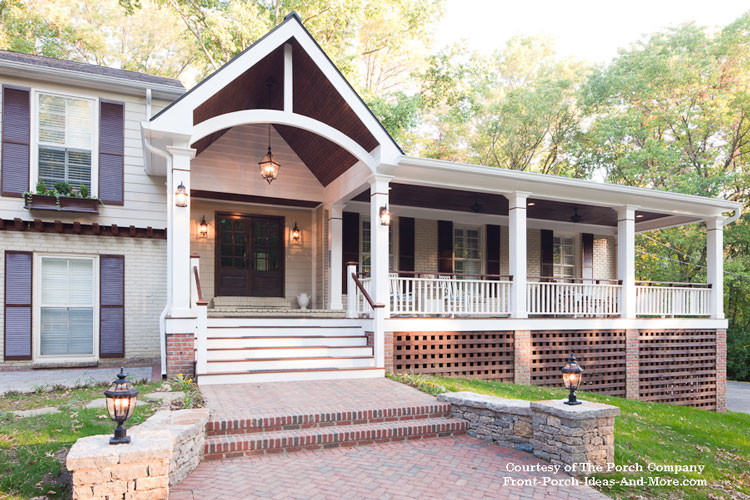 front porch designs after porch remodel VGSOZWF