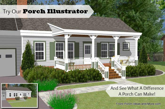 front porch designs porch illustrator lets you see the difference a porch nakes CTUOHLP