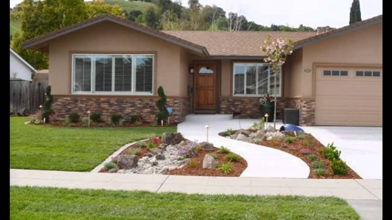 front yard designs beautiful front yard landscape design - youtube FUWBVYP