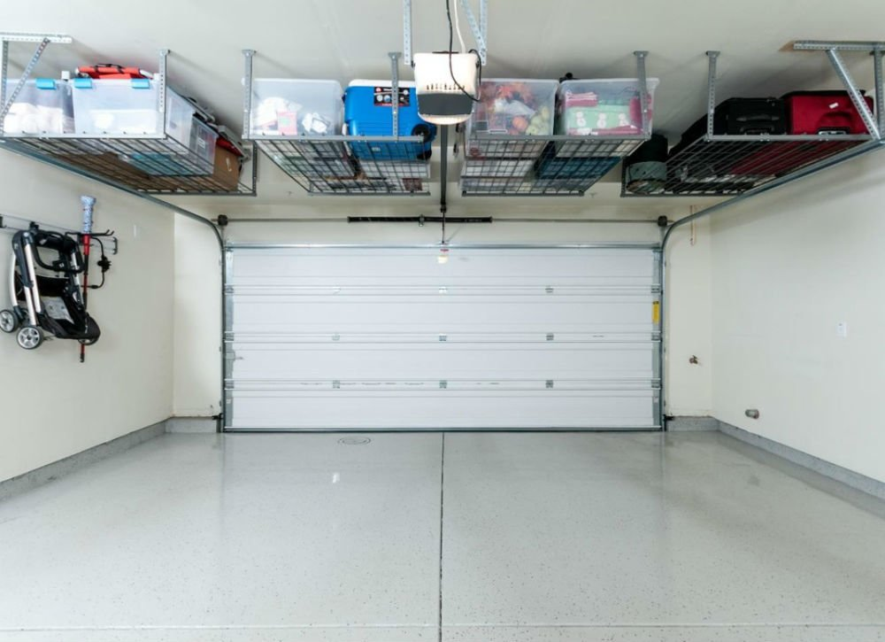 garage storage use ceiling-mount racks UNYCTER