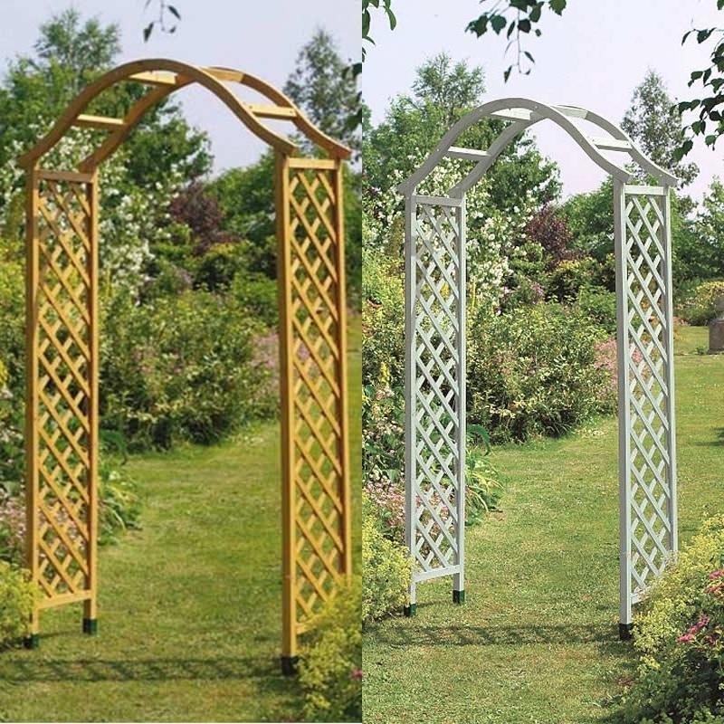 garden arches gardman fsc elegance wooden arches AJPWVCH