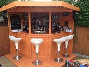 garden bar image is loading deluxe-7ft-corner-bar-garden-bar-entertainment-area- DUVTVYV