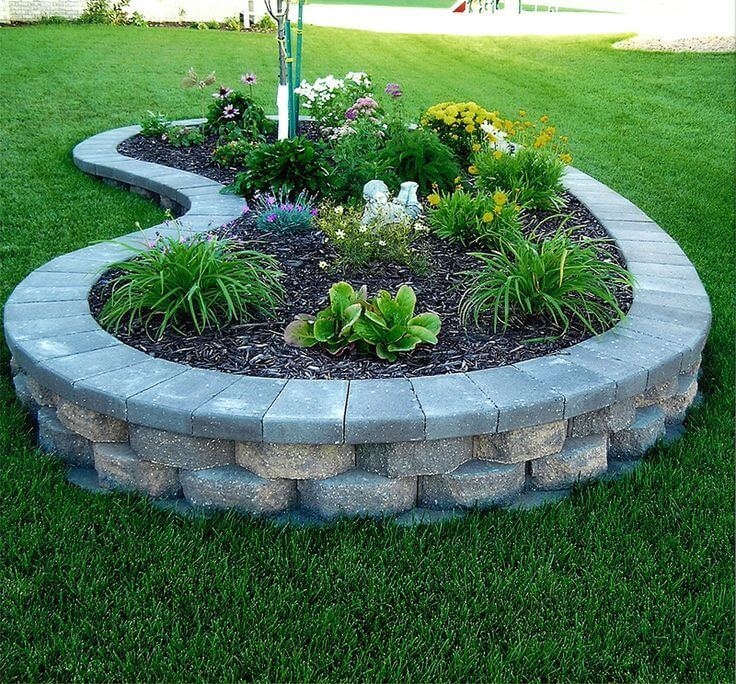 garden bed ideas raised block flower and plant bed OHUCWZV