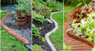 garden border edging 17 simple and cheap garden edging ideas for your garden HFLTBEW