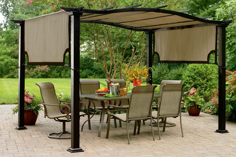 garden canopy kmart essential garden curved pergola canopy ... UADIHHR