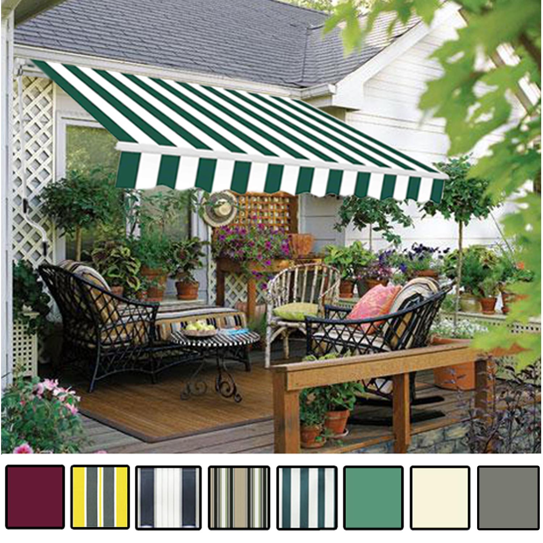 garden canopy manual awning canopy garden patio shade shelter aluminium VFIMYKE