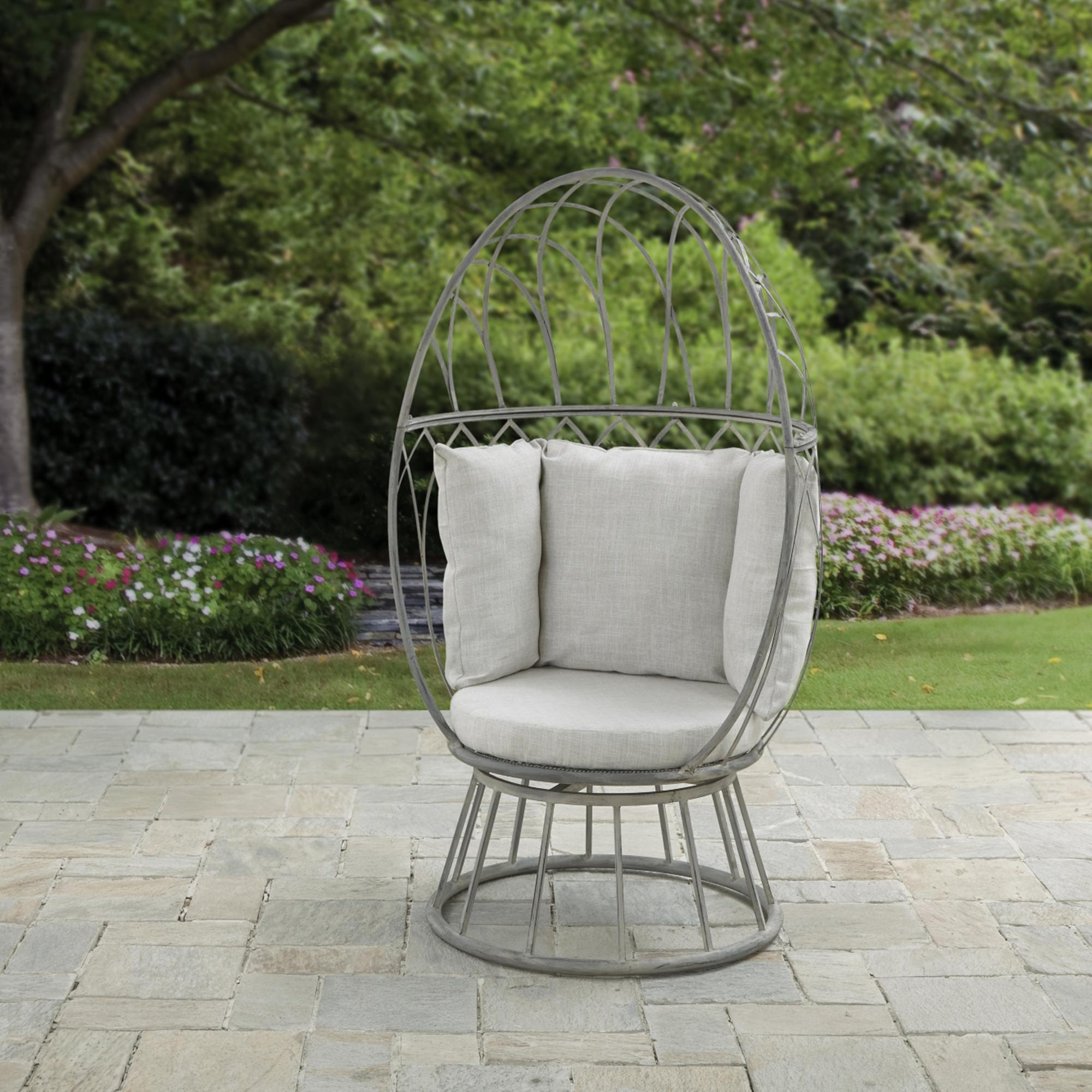 garden chairs florence grey swivel chair CJXFPMU