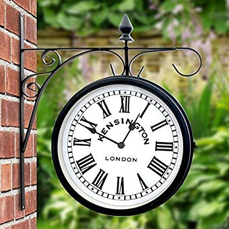 garden clock outdoor garden kensington station outside bracket wall clock 25cm double  sided NGVQEPB