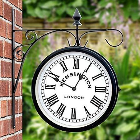 garden clock outdoor garden kensington station outside bracket