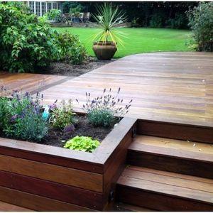 garden decking ideas small deck ideas - looking