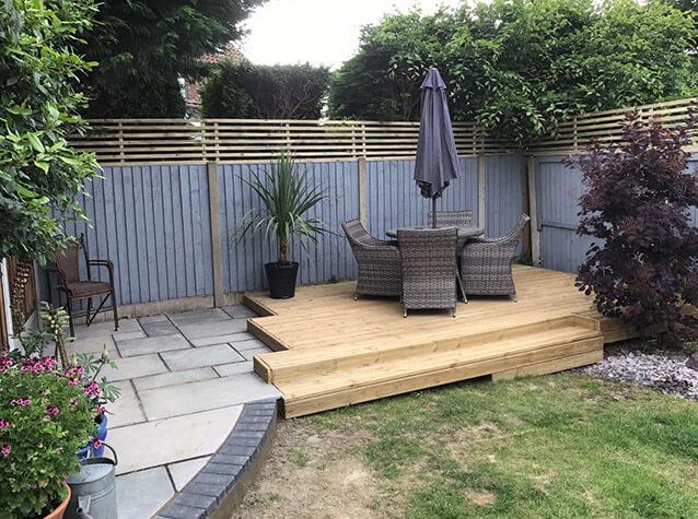 garden decking wooden decking area PBEXUZC