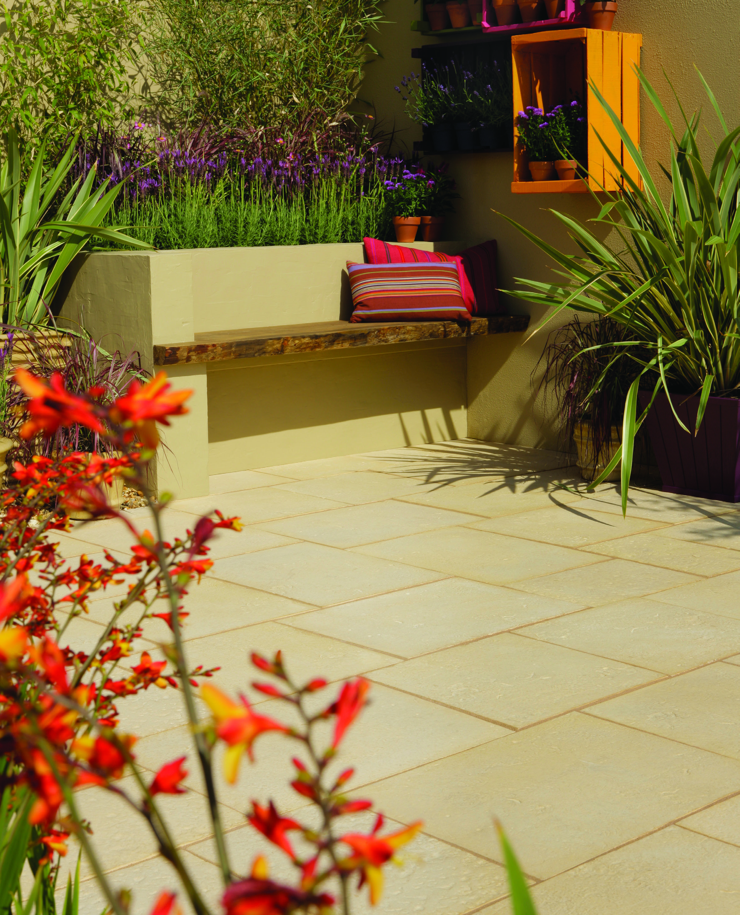 garden design ideas aged riven paving from bradstone NZLUOIV