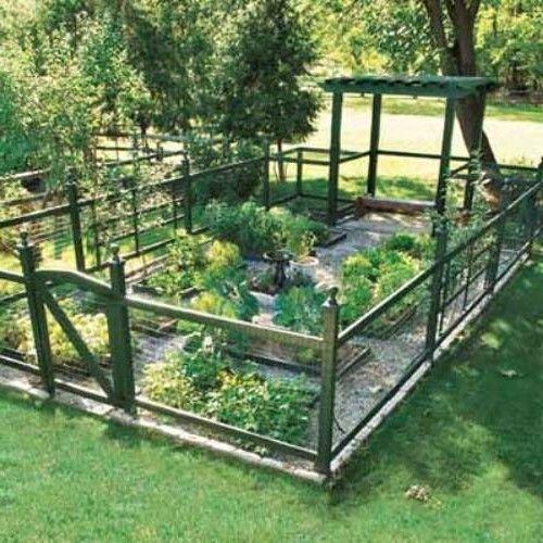 garden fence ideas FHJAMEO