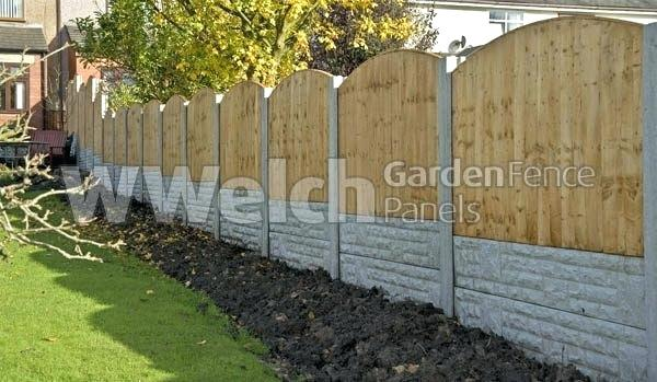 garden fence panels arched panel feather edge convex cheap 6x6 HPQVPNV