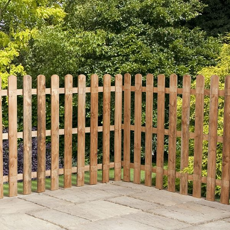 garden fence panels click image to enlarge 4ft x 6ft waltons picket round top garden RJYBOJI