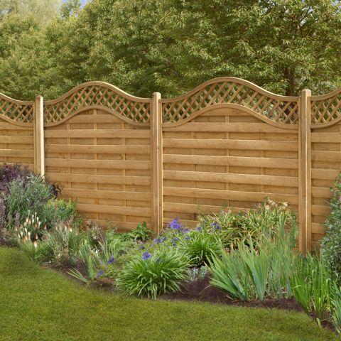garden fence panels forest paloma panel 1.5m high (europa prague) SHLOQNB