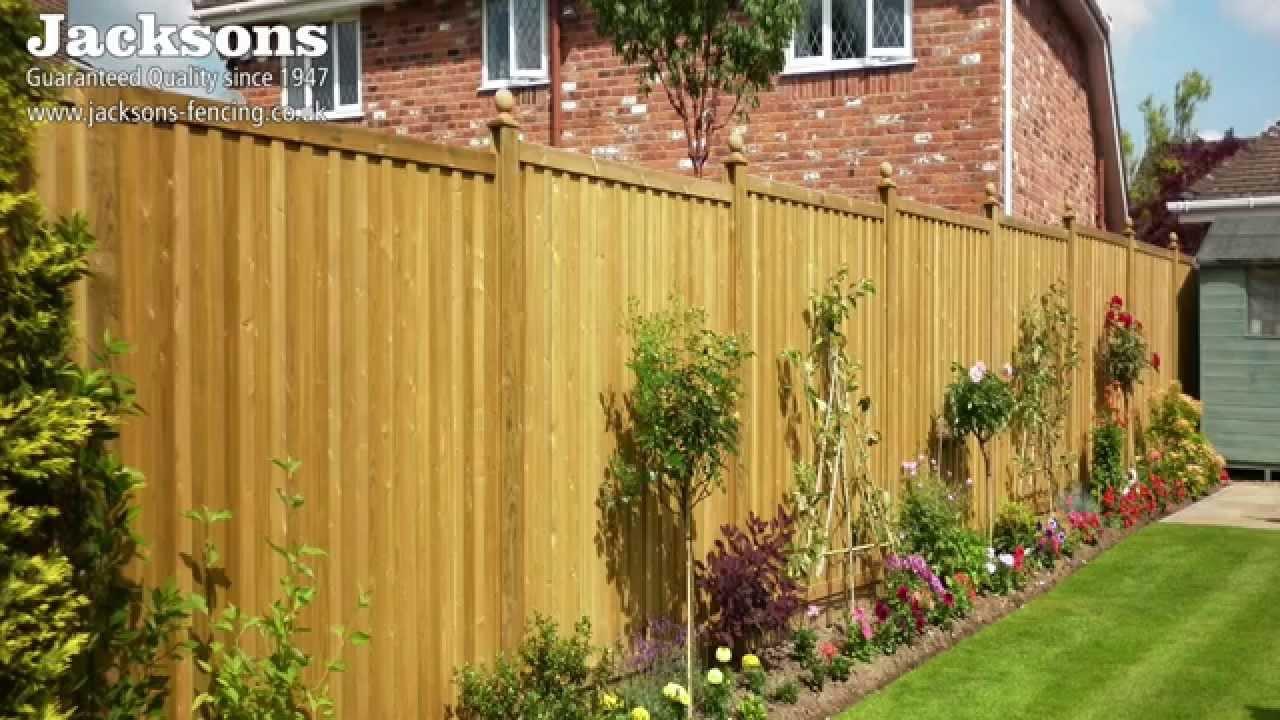 garden fencing panels fence panels - youtube LSTWTWU