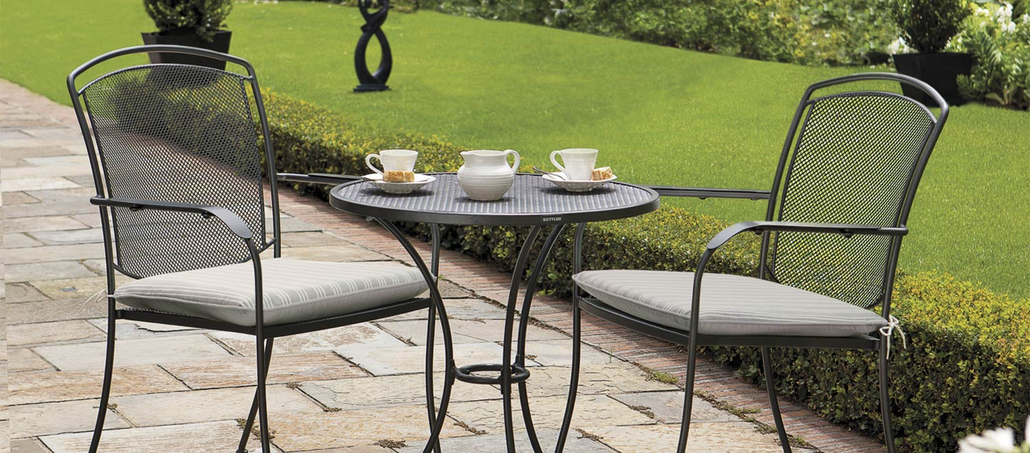 garden furniture henley dining set in iron grey with cushions from the kettler at XTCSNOV