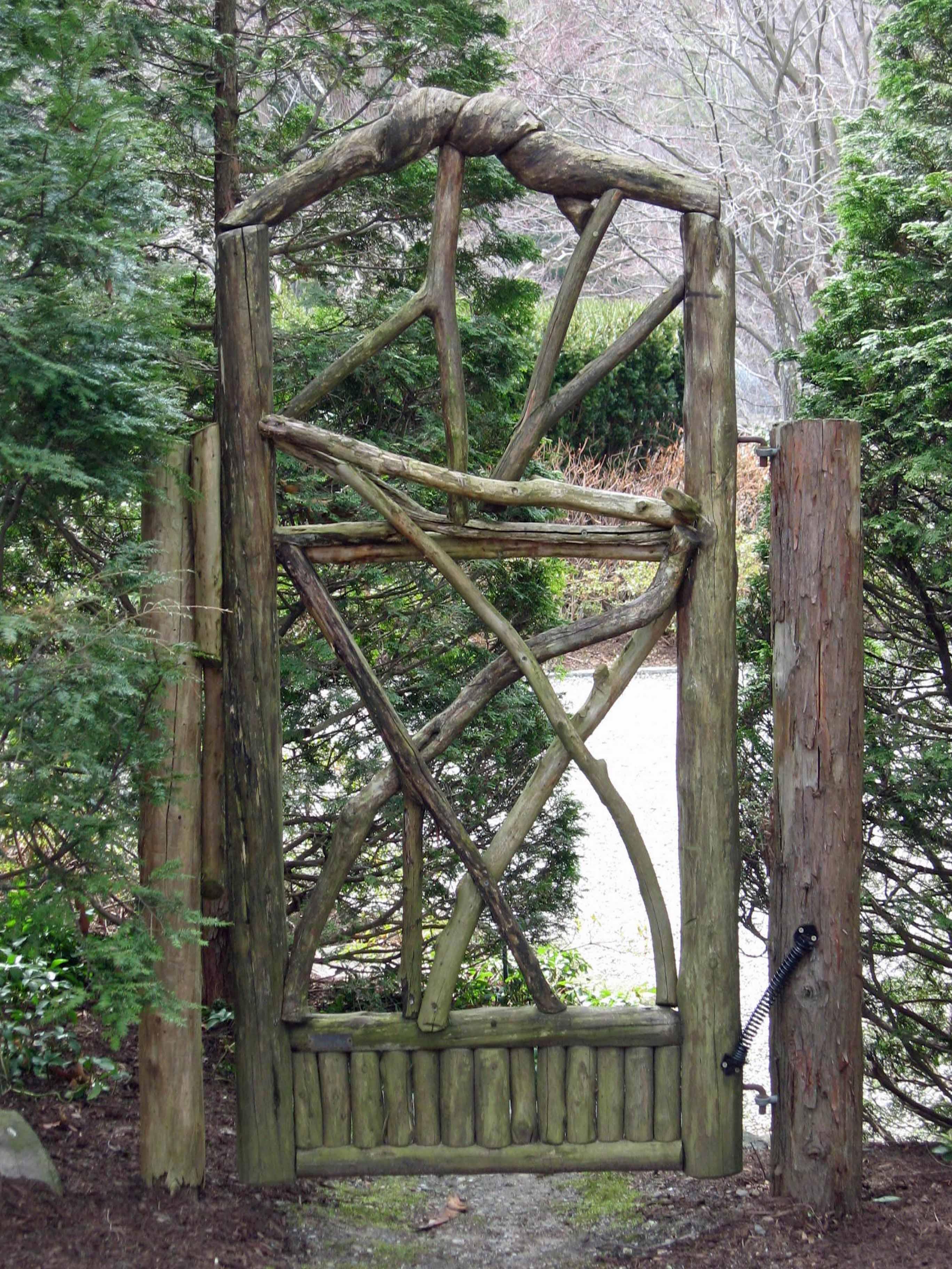 garden gates garden design details: rustic wood gates AQGXIFE