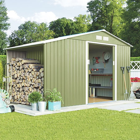 garden huts waltons metal sheds YMDQFVK