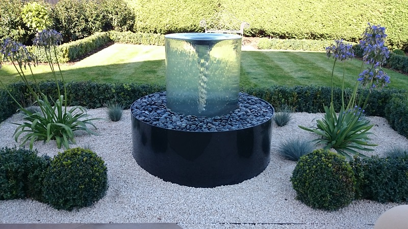 garden landscaping ideas spectacular water feature OXFVUOZ