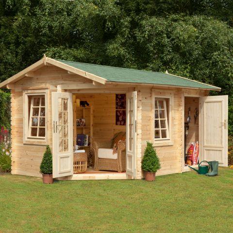 garden log cabins 9x13 34mm berkshire renwick log