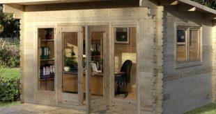 garden log cabins installed forest garden melbury 44mm