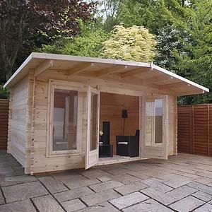 garden log cabins waltons 5m x 3m woburn