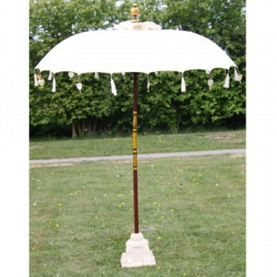 garden parasols paradise collection parasol - cream by indian garden company MTTZVUV