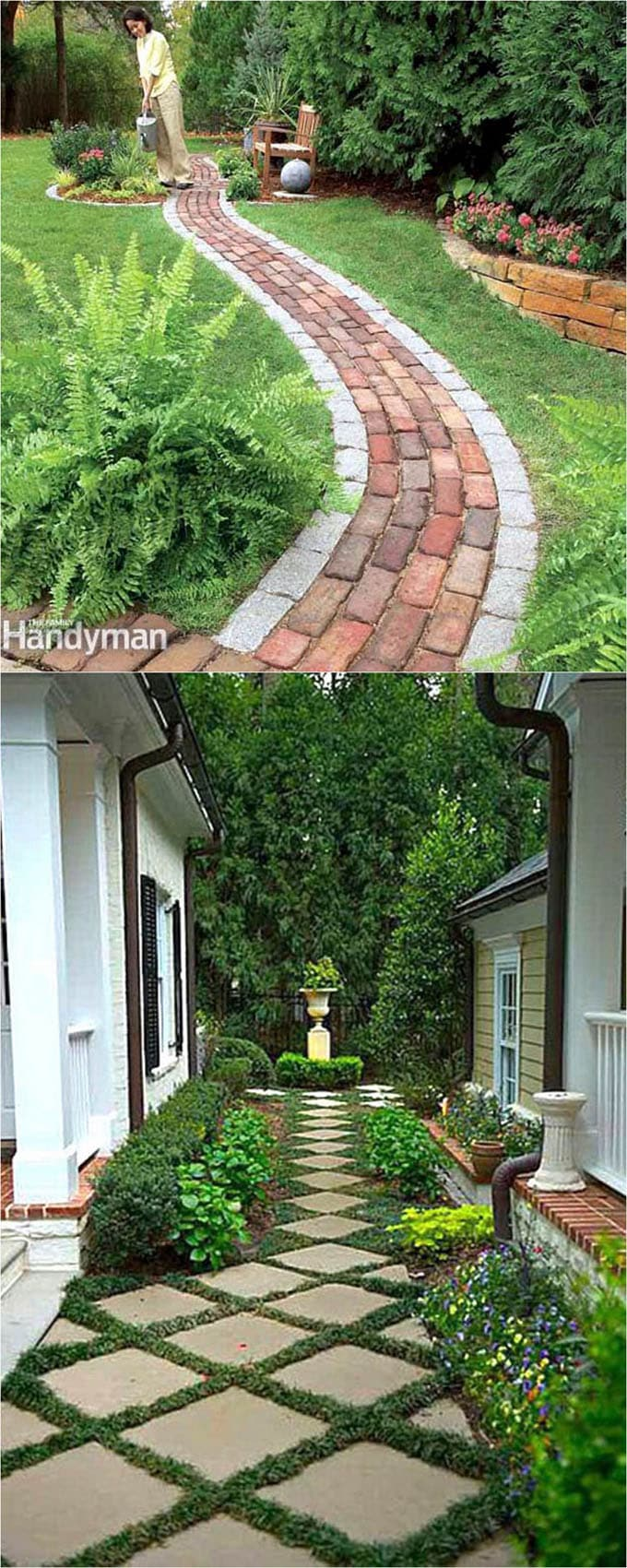 garden path ideas a grassy area is beautiful. it is not suitable for heavy traffic NLTQBMQ